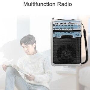 Image 5 - Retekess TR611 휴대용 FM AM SW 3 밴드 라디오 이어폰 잭 USB TF 플레이어 지원 MP3 형식