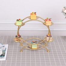 Dessert table decor cold food tea rest table set tray display rack wrought iron bird cage afternoon tea snack rack cake rack стоимость