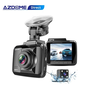 AZDOME GS63H Dash Cam 4K Built in GPS Speed Coordinates WiFi Car DVR Dual Lens Camera Dash Camera Night Vision Dashcam 24H Park image