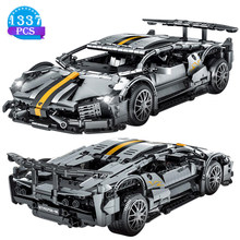 Criativo famoso carro de corrida série blocos de construção modelo tijolo conjunto das crianças brinquedos presentes aniversário para o namorado