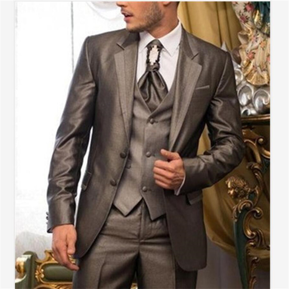 New Classic Men's Suit Smolking Noivo Terno Slim Fit Easculino Evening Suits For Men Clothing Wedding Best Groomsman Tuxedo