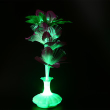 1 шт. светодиодный светильник из искусственного цветка, настольная лампа из оптического волокна, ваза для цветов, Ночной светильник, украшение для дома, вечерние украшения