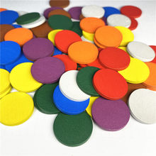 80 Pieces 25*3mm Colorful Wooden Circle Plate Pieces Puzzle Board Game Chess Pieces For DIY Games Accessories 8 Colors(China)