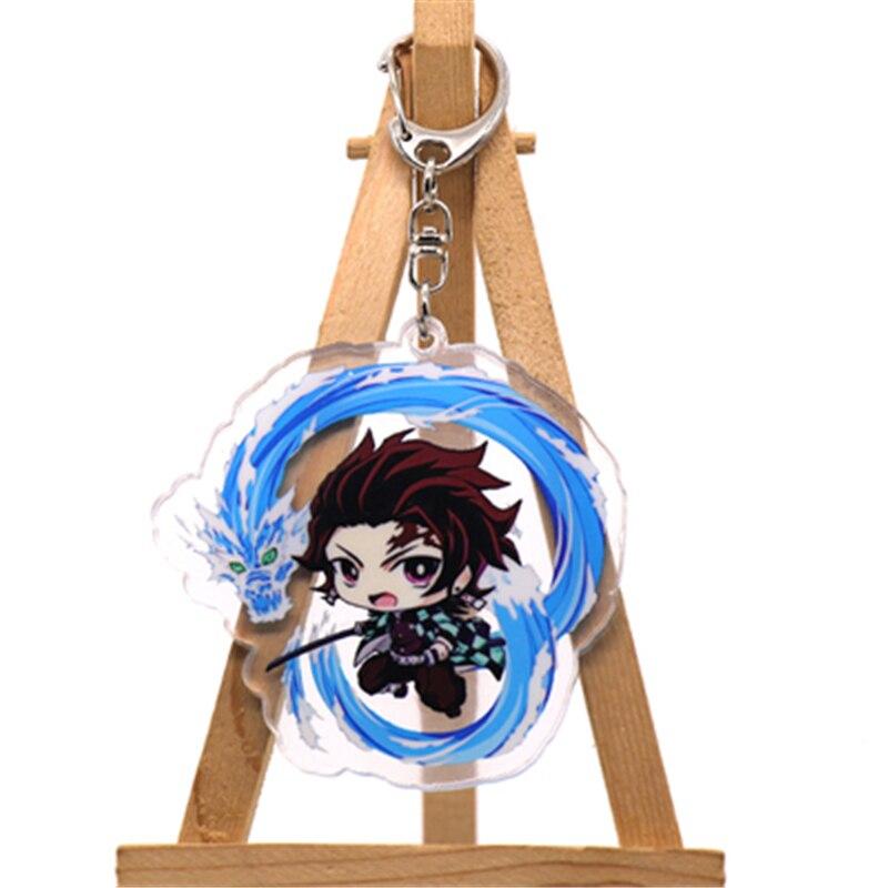Аниме демон убийца Kimetsu no Yaiba Kamado Tanjirou косплей реквизит брелок Kamado Nezuko акрил прекрасная цепочка для ключа брелок - Цвет: style10