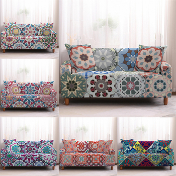 Elastic Sofa Cover Bohemian Geometry Universal Spandex Non-slip Stretch Couch Slipcover Couch Cover Sofa Covers 1