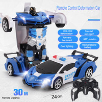 Nuovo Trasformazione RC Robot 2 IN 1 Robot di Deformazione di Telecomando di Telecomando Auto Modelli di Giocattoli per I Bambini Del Bambino di Natale Di Natale regalo