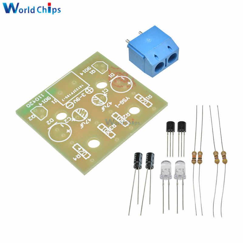 10Pcs Kit 5Mm Led Simple Flash Light Simple Flash Circuit Production Suite ov