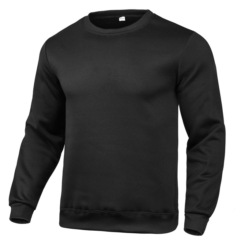 2020 new winter round neck cotton solid color fashion casual pullover jogging fitness sweatshirt track and field sweater S〜3XL 4