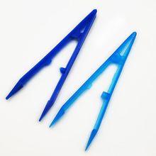 100 Pcs/pack Disposable Plastic Tweezers Dental Materials Dressings Disinfection Sterile Forceps dental stump tweezers tooth removal tweezers minimally invasive grip tooth forceps