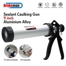 BRAKEMAN Caulking Gun Sausage Style Aluminum 230mm 9 inch Durable DIY Construction Tools Glue Seals for Doors and Windows