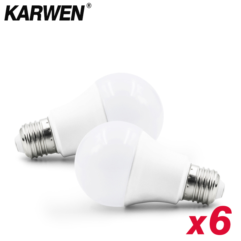 6pcs/lot Lampada LED Lamp E27 E14 Light Bulb 3W 6W 9W 12W 15W 18W 20W 220V Cold White Warm White Livingroom Indoor Lighting
