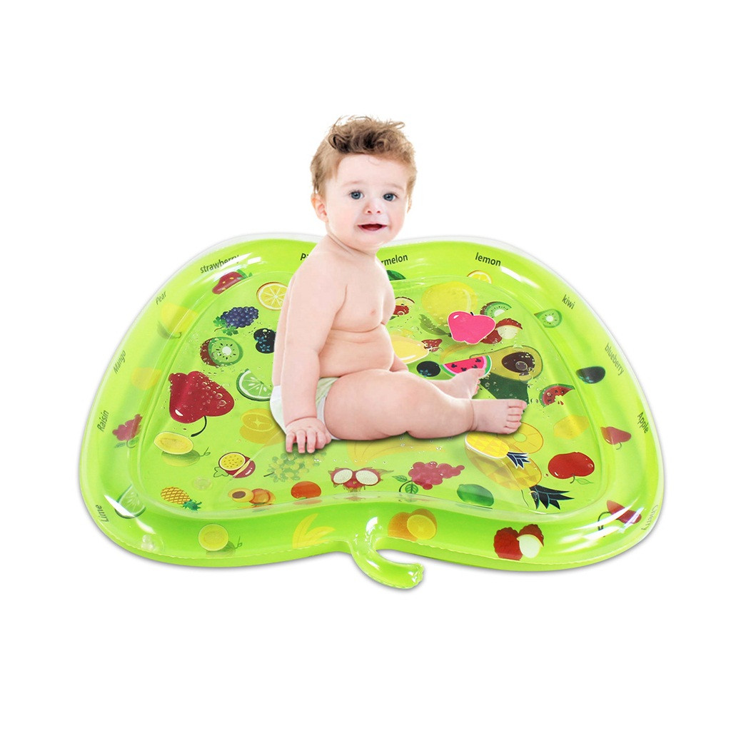 New Tummy Time Water Mat Inflatable Fruit Shaped Infant Play Mat Toy For Babies