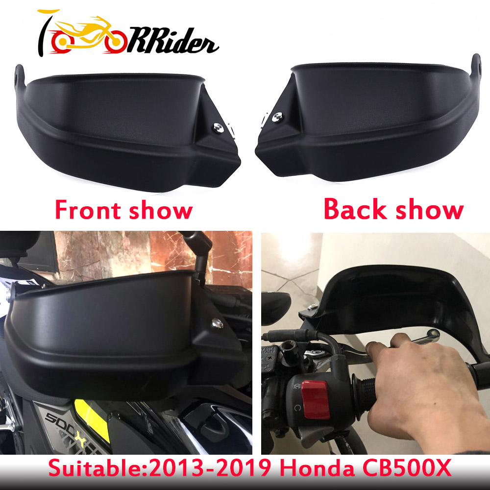 Motorcycle for <font><b>Honda</b></font> <font><b>CB500X</b></font> CB 500X 2013 2014 2015 2016 2017 <font><b>2018</b></font> 2019 Black Handle Bar Hand Brush Guard Handguard Protector image