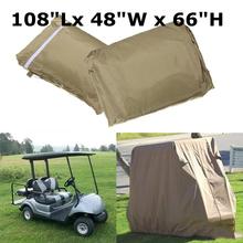 Golf Cart Cover Waterproof Golf Car Cart Dust Cover Rain Passenger For Club Car Classic Accessories cheap 38cm Car Covers Fits all standard 4 passenger EZ GO Club Car and golf carts 1290g 27cm 18cm