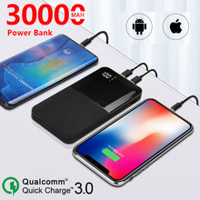 3000mAh Power Bank Large Capacity Portable Charger Dual USB Battery Charging Digital Display Outdoor Travel Charger Power Bank(China)