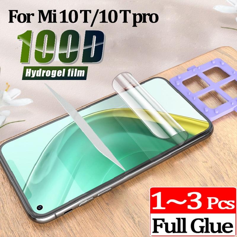 1 ~ 3 adet xiaomi Mi 10T pro hidrojel film ekran koruyucu için mi 10 T lite xiaomi 10T pro Mi10T pro koruyucu film cam değil