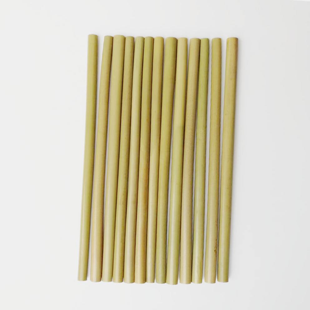 Image 5 - 12pcs Drinking Straws Green Reusable Bamboo Straws with Eco Friendly Bamboo Straw Brush Decoration Gift Party Bar Accessories-in Drinking Straws from Home & Garden