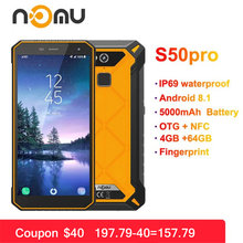 "Nomu S50 Pro 2019 Smartphone Android 8.1 IP69 IP68 Waterproof Shockproof Mobile Phones 5.72"" HD 8MP+16MP NFC Fingerprint+Face ID(China)"