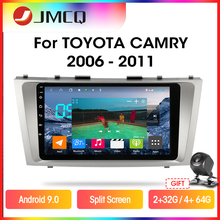 Jmcq T9 Rds Dsp 4G + 64G Autoradio Voor Toyota Camry 7 Xv 40 50 2006-2011 Multimidia Video Android 9.0 Gps Navigaion Split Screen