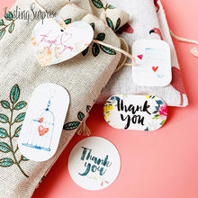 50pcs Flower Paper Tags Party Decoration White Gift Hang Box Round Cards DIY Label Handmade Garment