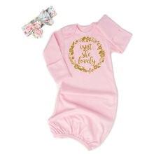 Модное летнее Ночное платье Neugeborene Baby mashchen Blumen Baumwolle Swaddle wrap Decke Schlafsack