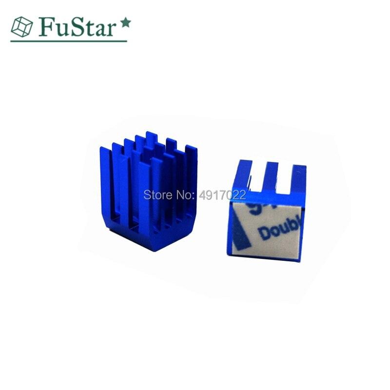10PCS 9*9*12 Mm Blue Heat Sink With 3M Glue Gdstime Aluminum Mini IC Chipset Cooling Cooler Heat Sink Heatsinks 9 X 9 X 12mm Hot