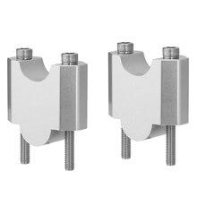 "KEMiMOTO 1 pair 2 Inch Handlebar Mount Clamp High Lifter Riser for INTRUDER M1800R 2"" Silver For Suzuki Boulevard M109R"