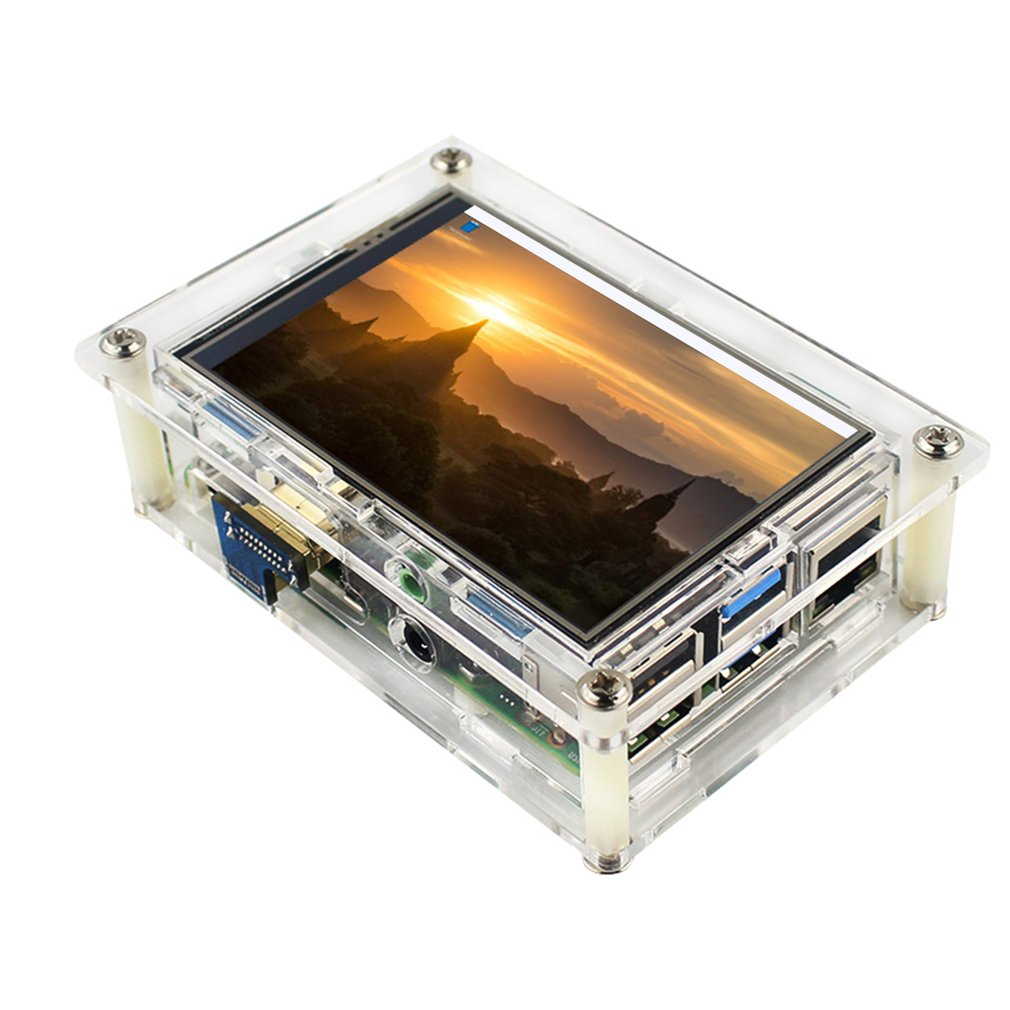 Raspberry Pi 3.5 Inch TFT Screen Clear Acrylic Case Box Shell With Screws