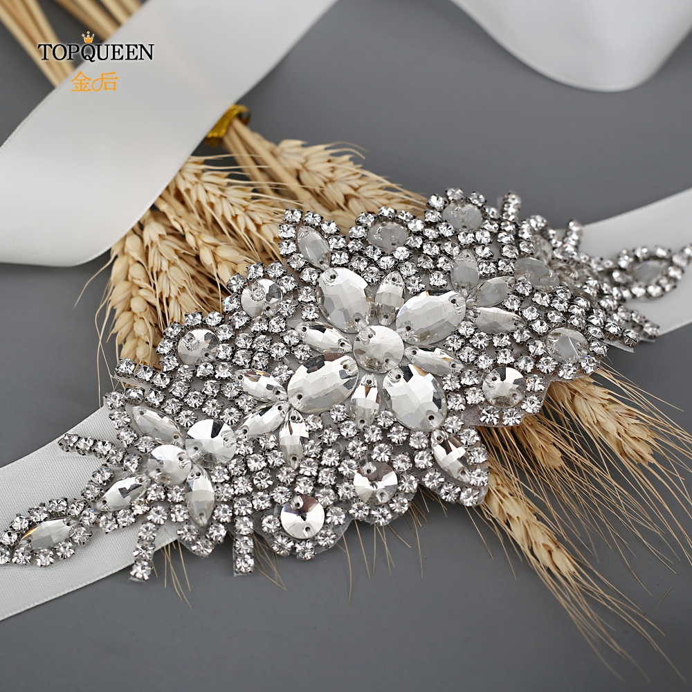 TOPQUEEN S01 Women's Belt Wedding Belt Accessories Bride Bridesmaid Bridal Sashes Belts For Evening Party Prom Gown Dress
