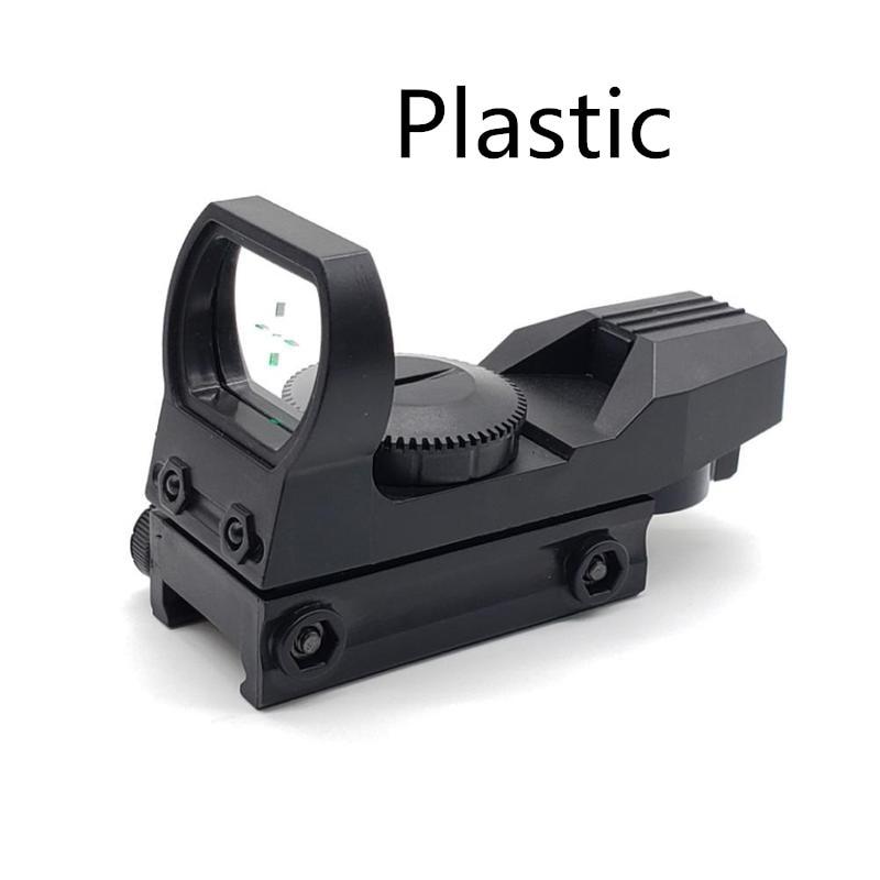 20mm Plastic Rail Riflescope Hunting Optics Holographic Green Dot Sight Reflex Reticle Tactical Scope Collimator Sight Drop Ship