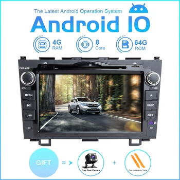 ZLTOOPAI Car Multimedia Player Android 10 For Honda CRV 2007-2012 Car GPS Radio Stereo DVD Player 8 Core ROM 64GB