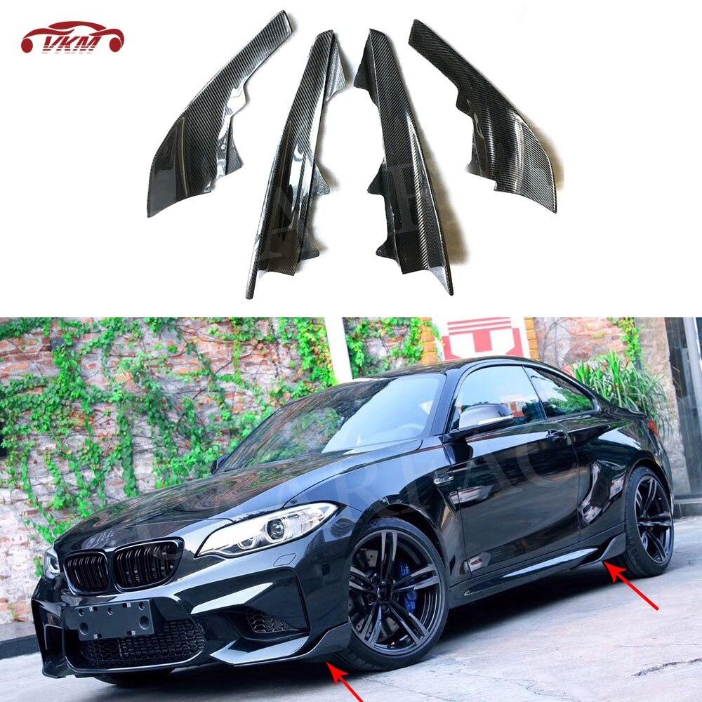 Carbon Fiber Front Lip Splitter for BMW F87 M2 2-Door 2016 2017 2018