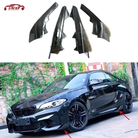 2 Series Carbon Fiber Front Bumper Splitters Side Skirts Cupwings Flaps for BMW F87 M2 Base Coupe 2 Door 2016 2017 2018