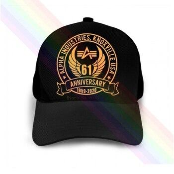 Alpha Industries-gorra de béisbol con Logo de 61 años, clásica, negra, Popular,...