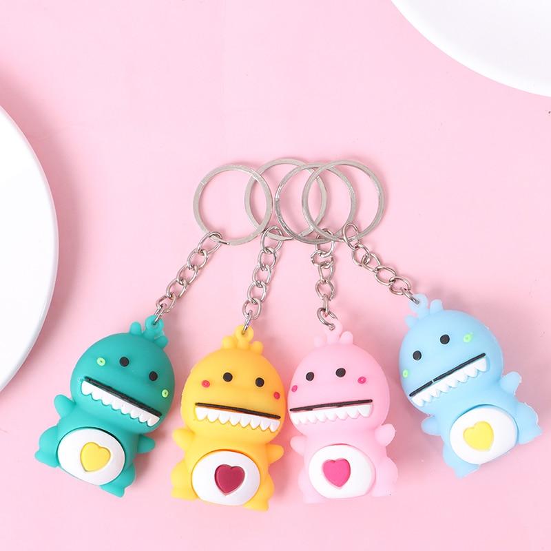 Cute Dinosaur Keychain Car Key Chains Pendant For Bag Charm Keyring Pendant Gift