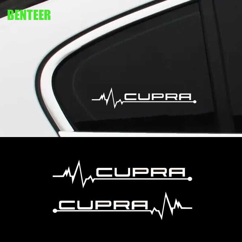 2Pcs KK Jendela Mobil Stiker untuk Kursi Cupra
