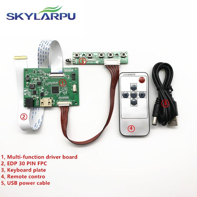 Skylarpu 30pin controlador lcd driver board 1 hdmi edp trabalho para resolução de tela 1920*1200 1920*1080 1600*900 1366*768 1280*800