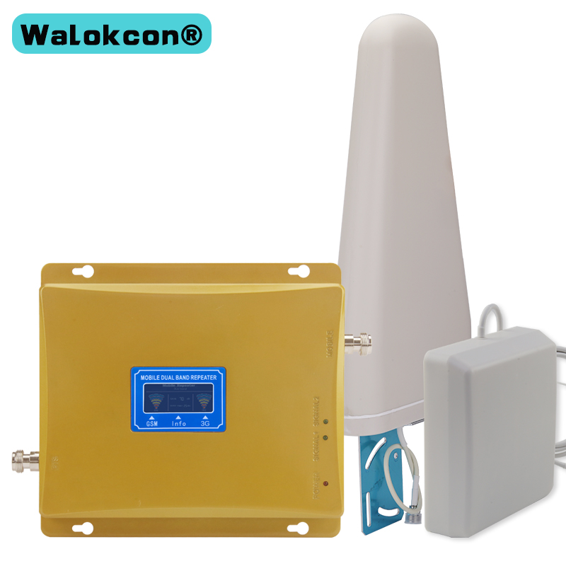 Repeatnet KW20L GW LCD Display GSM 900mhz WCDMA 2100mhz Dual Band Signal Booster 3G Gsm Repeater