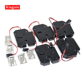 KINGJOIN DC 12V 1.5A-2A Electromagnetic Door Lock Cabinet Drawer Lockers Lock Electric Control Lock dc 12v 2a small solenoid electromagnetic electric control cabinet drawer lockers lock pudsh push design automatic open the door