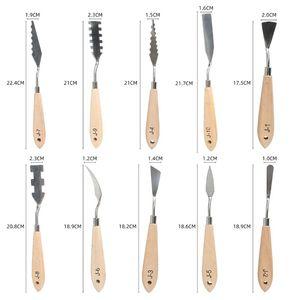 Image 3 - 10pcs/set Stainless Steel Painting Palette Knife Oil Paint Spatula Scraper Tools
