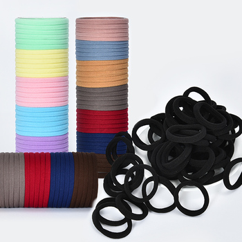 10/50/100 Pcs/Set Women Girls Sweet Colors Soft Elastic Hair Band Lady Solid Scrunchies Rubber Bands Female Hair Accessories 1