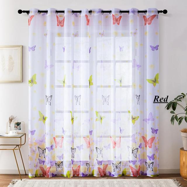Butterfly Sheer Curtains 5