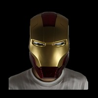 The Avengers Iron Man helmet The mask can be opened Eye LED light Original size 1/1 PVC Adult Motorcycle Toy Xmas Gifts