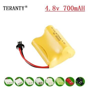 ( L Model ) 4.8v NiCd Battery For Rc toys Cars Tanks Robots Boats Guns 700mah 4.8v Rechargeable Battery 4* AA Battery Pack 20Pcs