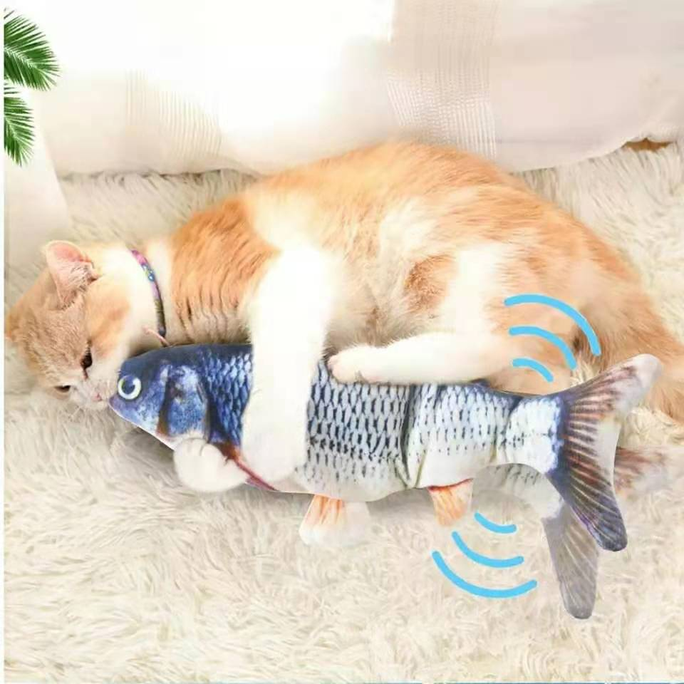 Cat USB Charger Toy Fish Interactive Electric floppy Fish Cat toy Realistic Pet Cats Chew Bite Toys Pet Supplies Cats dog toy 2