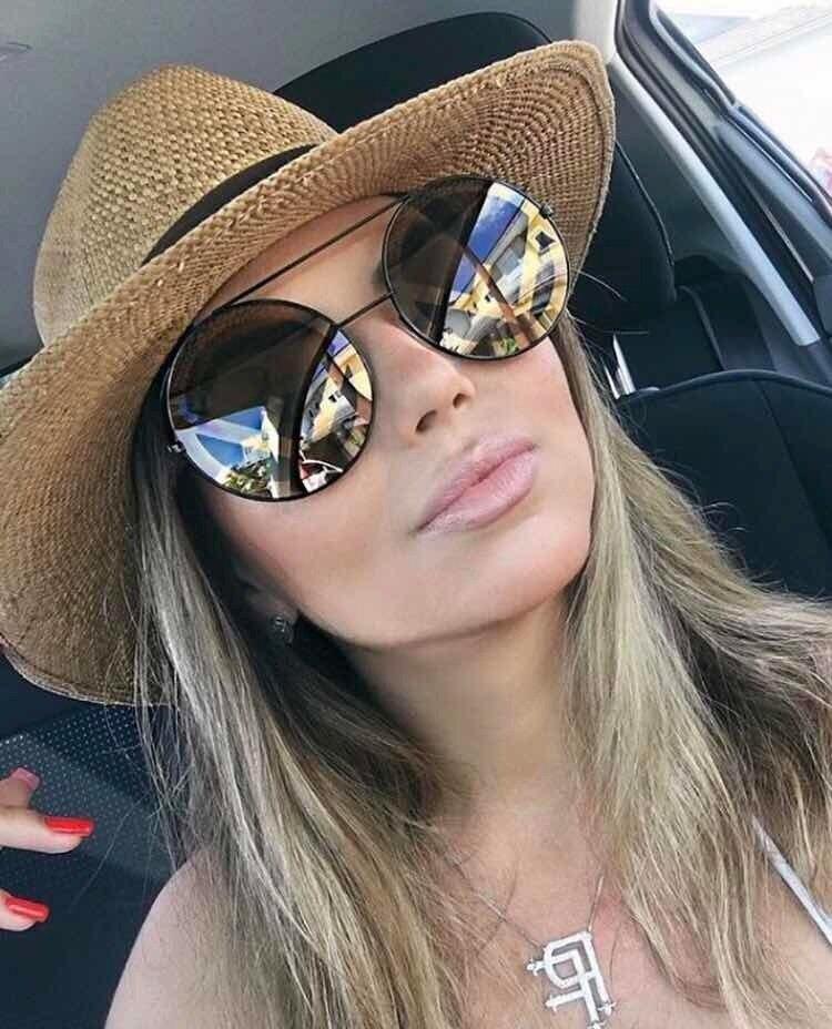 Eoome 2020 lunettes de soleil de créateur rondes surdimensionnées femmes lunette de luxe femme