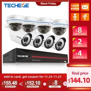 Image 1 - Techege 8CH 1080P POE NVR kit 2MP Audio PoE IP Camera H.265 CCTV System Outdoor Waterproof  Email Alert Video Surveillance Kit