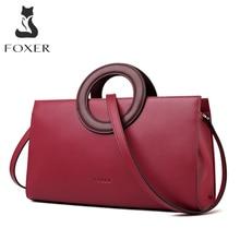 FOXER Lady Elegant Hand Bags Cowhide Women Stylish Shoulder