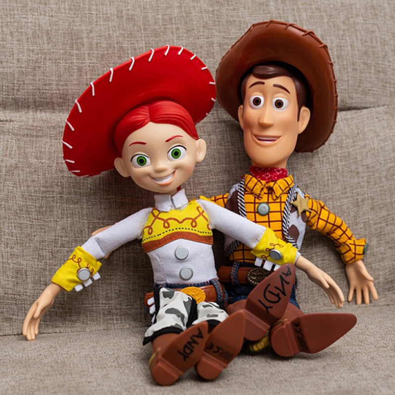 38cm Toy Story 4 Talking Jessie Woody PVC Action Figures Toy Model Toys Children Christmas Gift Collectible Doll