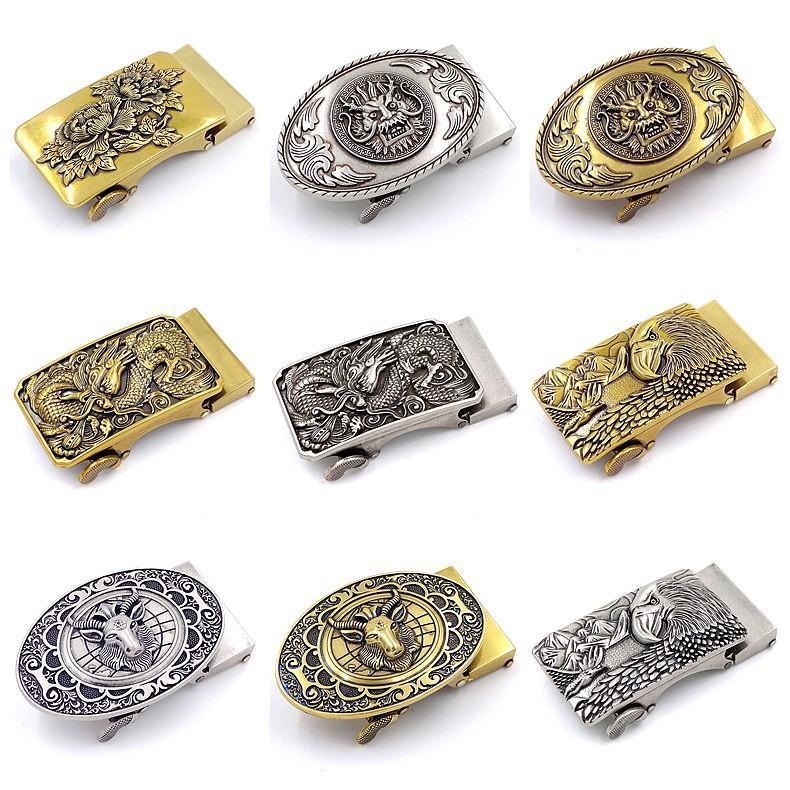 New Arrivals Fashion Luxury Alloy Automatic Belt Buckles For Men's  Retro Copper Belt Buckle Head  For Leather Belt Wholesale